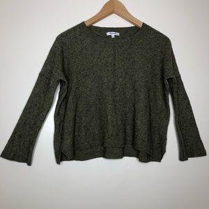 Madewell Olive Green Semi Cropped Sweater